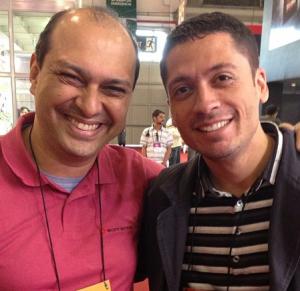 Maurício Soares da Sony Music e Ricardo Costa - Agente Gospel. ( Foto: Arquivo)
