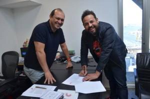 Maurício Soares da Sony Music e Alex Passos da balaio Music
