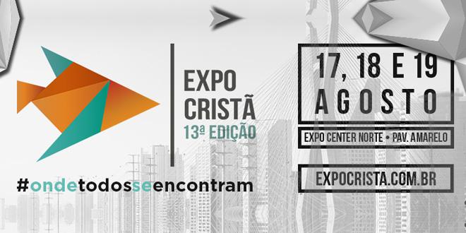 Expo Cristã 2017 acontece de 17 a 19 de Agosto